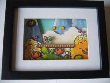 Yoshis Island  3D Diorama Shadow Box